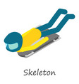 skeleton icon isometric style vector image vector image