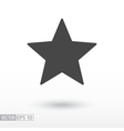 Star flat Icon Sign Star logo for web design vector image vector image