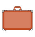 suitcase luggage icon vector image