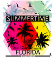 summer graphic tee vector image vector image