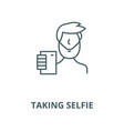taking selfie line icon linear concept vector image vector image