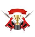 tattoo artists championship emblem logo vector image vector image