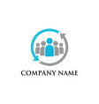 teamwork business concept logo vector image vector image