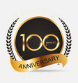 template 100 years anniversary vector image vector image