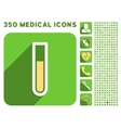 Test Tube Icon and Medical Longshadow Icon Set vector image vector image