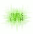 think green concept logo design vector image vector image