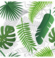 tropical trendy pattern with exotic leaves vector image vector image