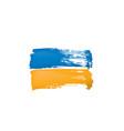ukraine flag on a white vector image vector image