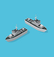warship military boat vector image