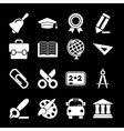 White Education Icons vector image