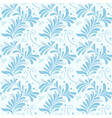 winter floral texture vector image vector image