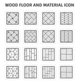 Wood floor icon vector image vector image