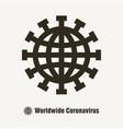 worldwide coronavirus covid19 19 icon vector image vector image
