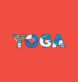 yoga concept word art vector image