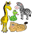 zoo animals collection 2 vector image