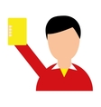 referee soccer yellow card vector image