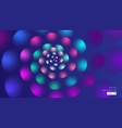 abstract background spiral flower petals pink blue vector image vector image