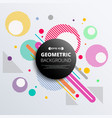 abstract of colorful geometric circle pattern vector image vector image