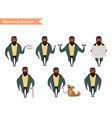 african american boy character for your scenes vector image