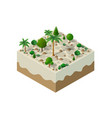 an isometric natural vector image vector image