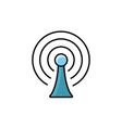 antenna signal internet flat line style vector image