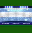 argentina flag card stunts argentina soccer vector image