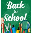 Back to School Title Words vector image vector image