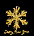 background with glowing snowflake vector image