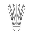 badminton shuttlecock icon outline style vector image