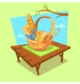 Bakery cartoon concept vector image