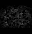 black crystalline polygonal background vector image vector image