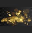 bokeh effect christmas glowing warm golden vector image vector image
