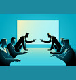 business people arguing at meeting room vector image vector image