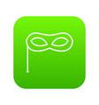 carnival mask icon digital green vector image