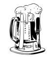 cartoon image of foamy beer vector image vector image