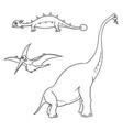 cartoon set 01 of ancient dinosaur monsters vector image