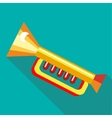 Children plastic trumpet icon flat style vector image