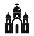 christian church icon simple style vector image vector image