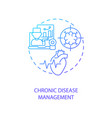 chronic disease management concept icon vector image vector image
