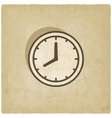 clock face old background vector image vector image