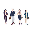collection of people dressed in smart clothing vector image vector image