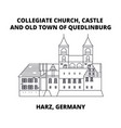 collegiate church castle and old town of vector image vector image