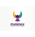 color phoenix creative symbol concept freedom vector image vector image