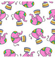 colorful elephant circus pattern style vector image vector image