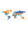 colorful geopolitical map of world bottom vector image