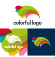 colorful logo and icon vector image vector image