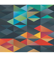 Colorful triangles ornament vector image vector image