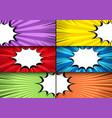 comic book horizontal bright banners vector image