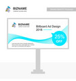 company bill board design with hammer logo vector image vector image