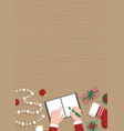 conceptual vertical christmas flat banner santa vector image vector image